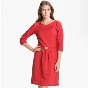 Hugo Boss | Hillary 3/4 Sleeve Dress Red Sz 8 EUC